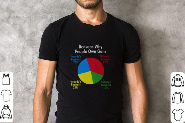 Awesome Reasons why people own guns nobody's business pie chart shirt
