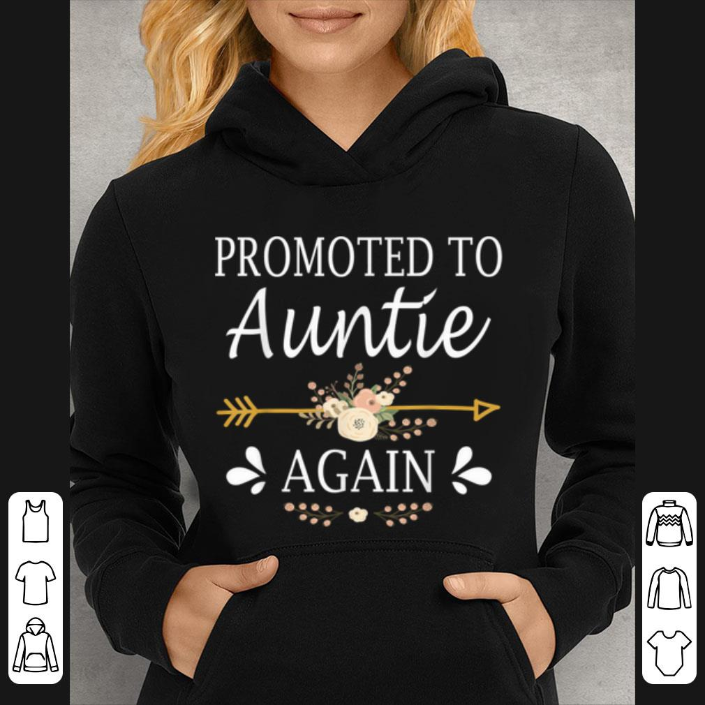 Premium Promoted To Auntie Again Mothers Day Gifts shirt