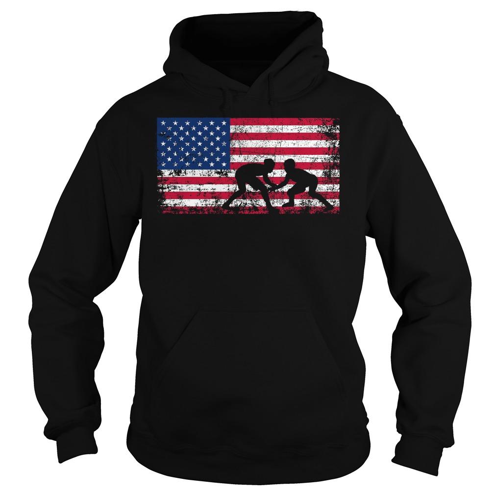 American Flag Wrestling Hoodie