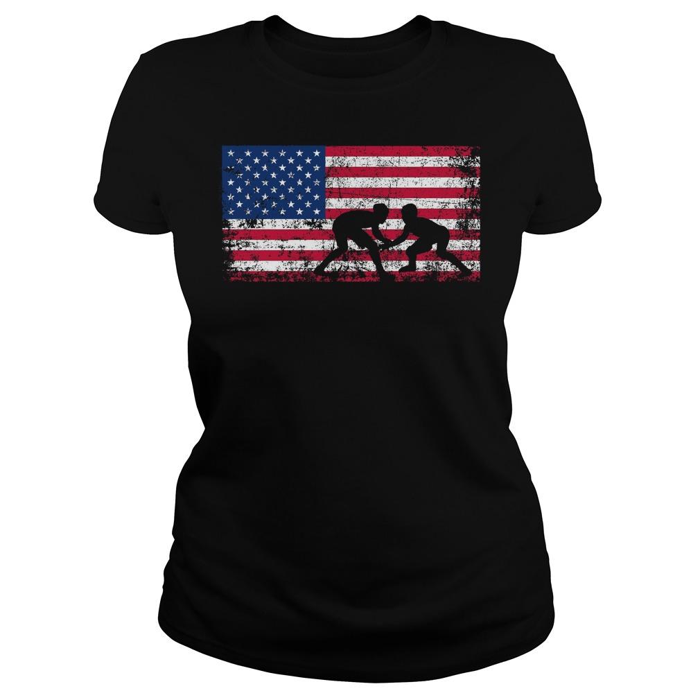 American Flag Wrestling Ladies