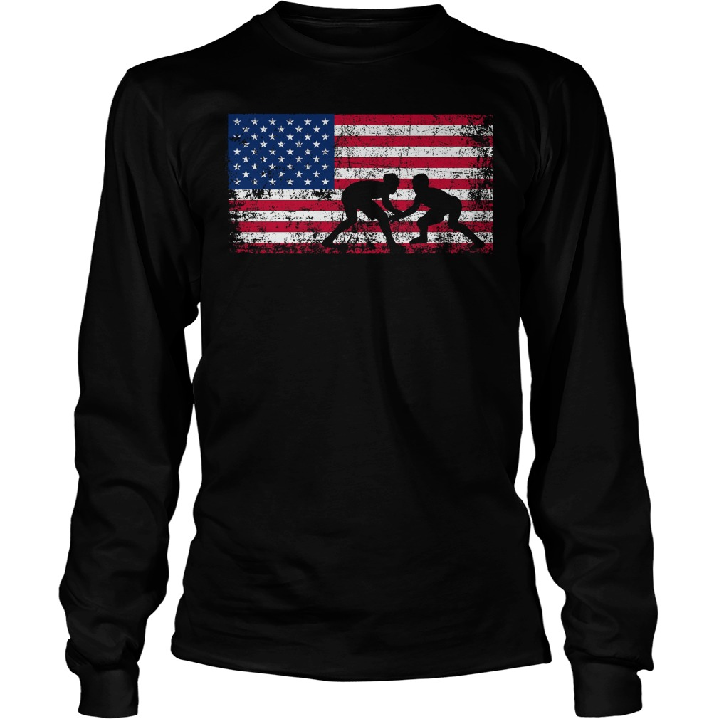 American Flag Wrestling Longsleeve