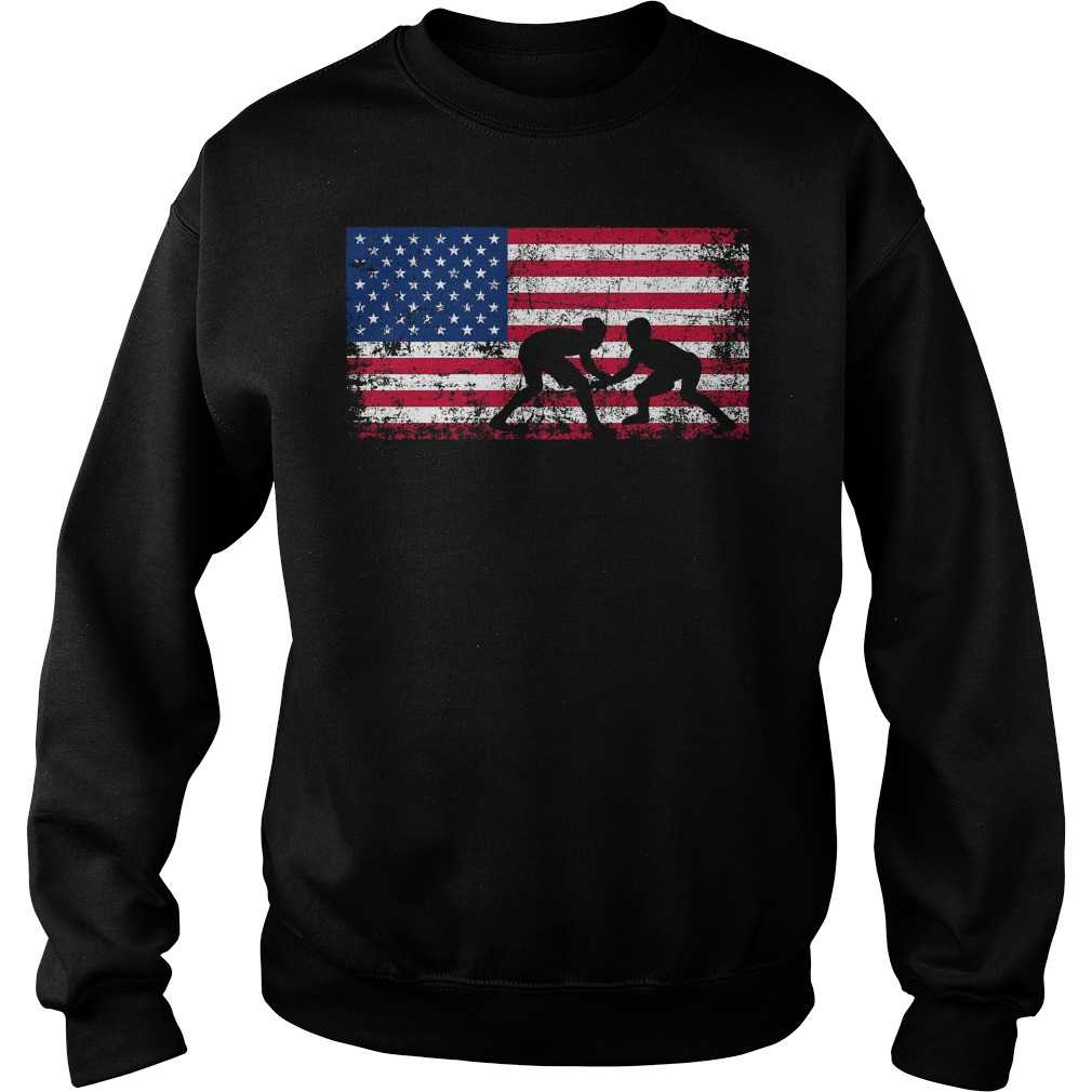 American Flag Wrestling Sweater