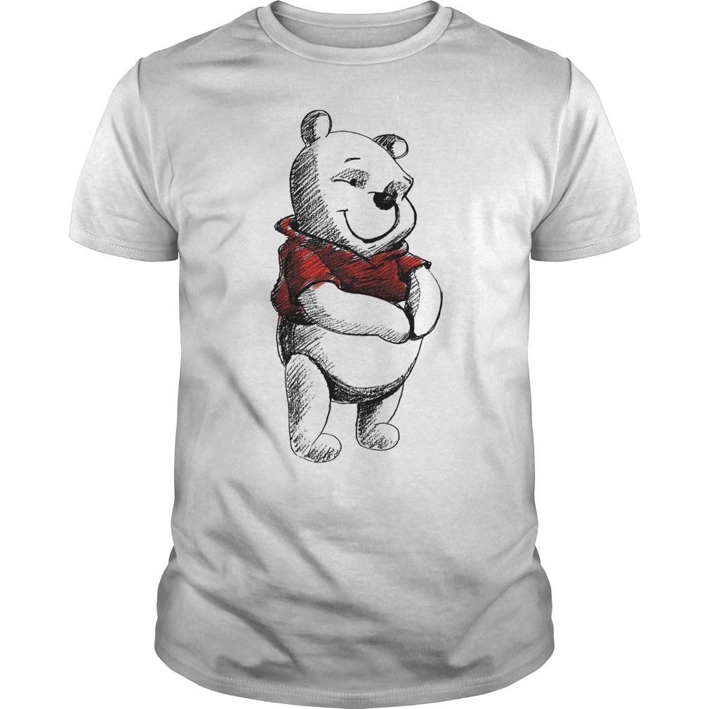 Disney Sketch Of Winnie The Pooh Shirt