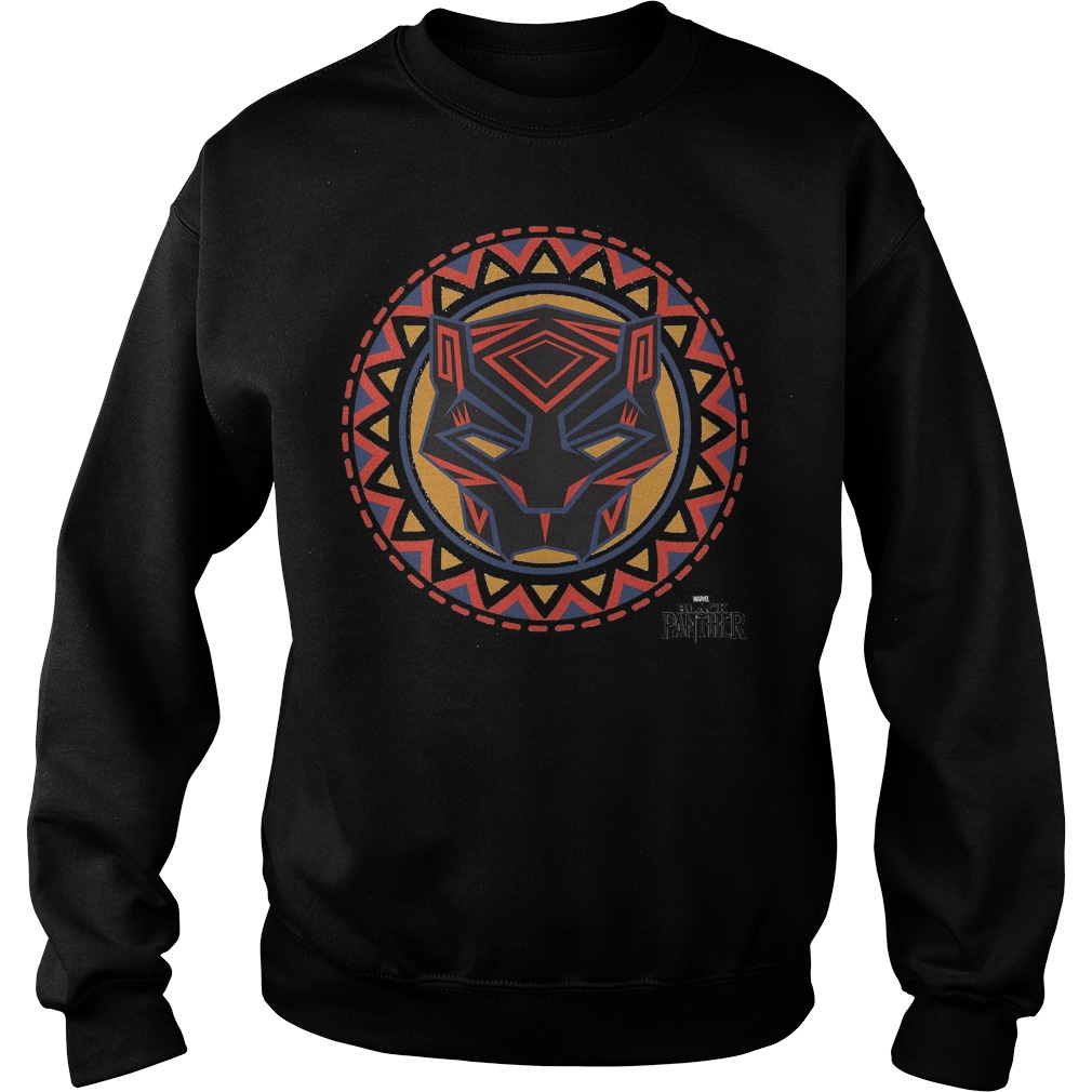 Marvel Black Panther Movie Geometric Pattern Mask Sweater