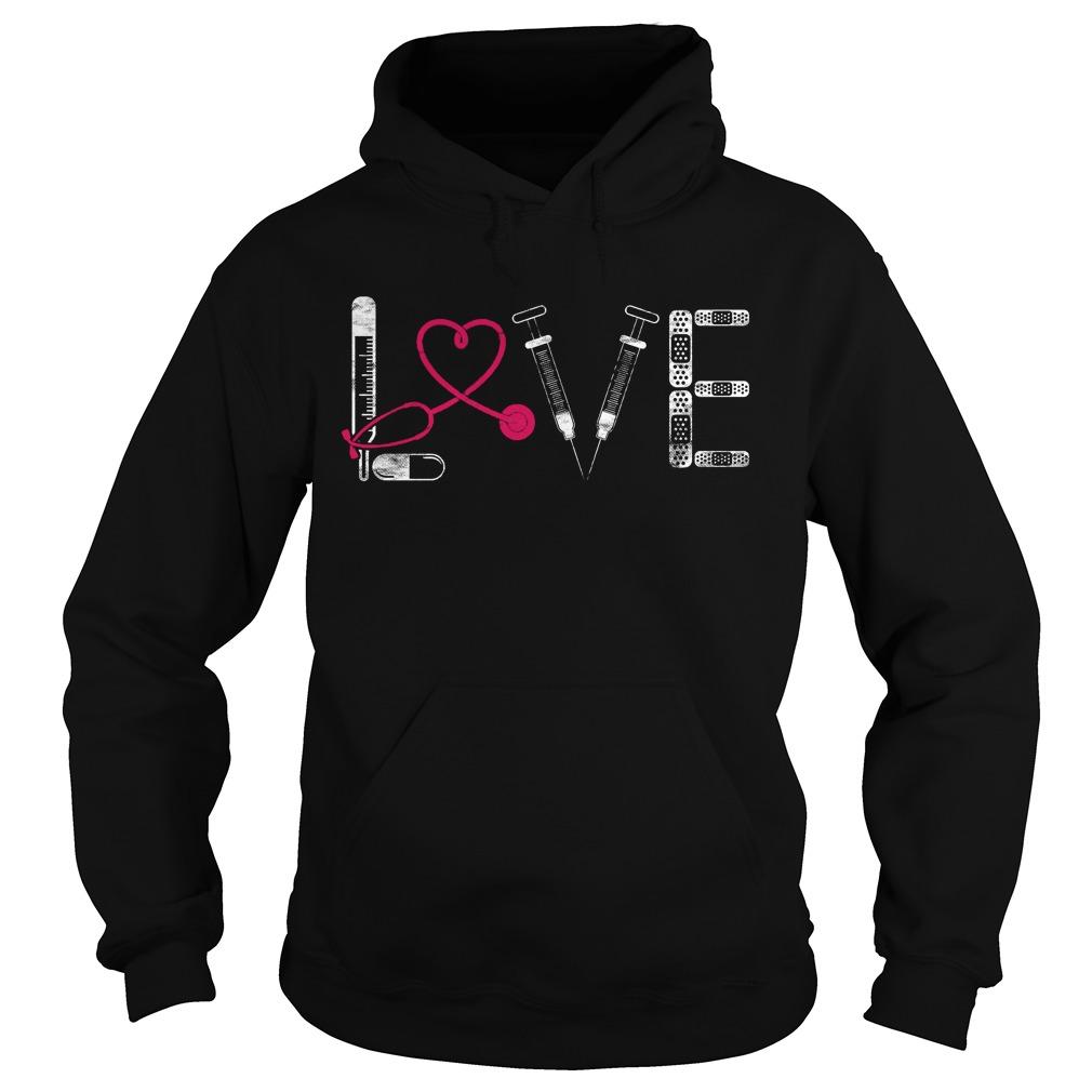 Nurse Rn Lpn Doctor Love Nursing Medical Clinicals Hoodie