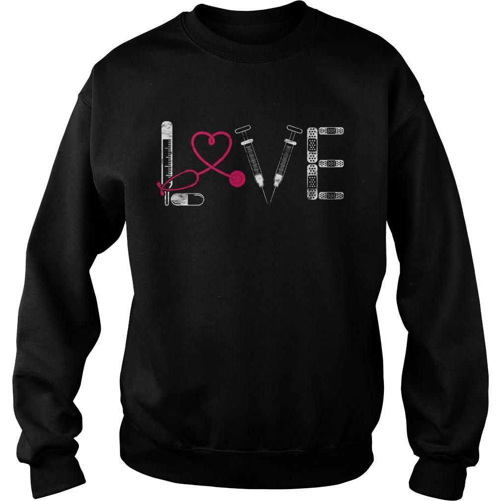 Nurse Rn Lpn Doctor Love Nursing Medical Clinicals Sweater