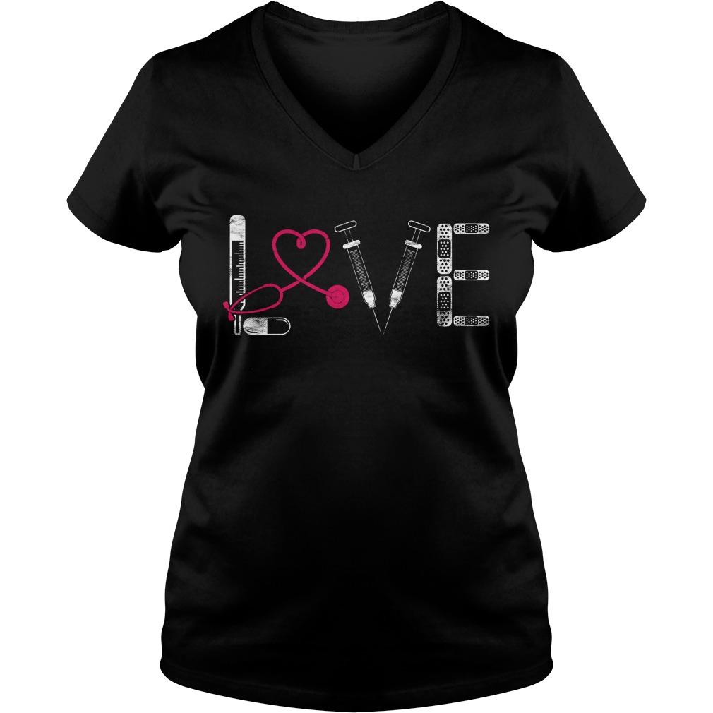 Nurse Rn Lpn Doctor Love Nursing Medical Clinicals V Neck