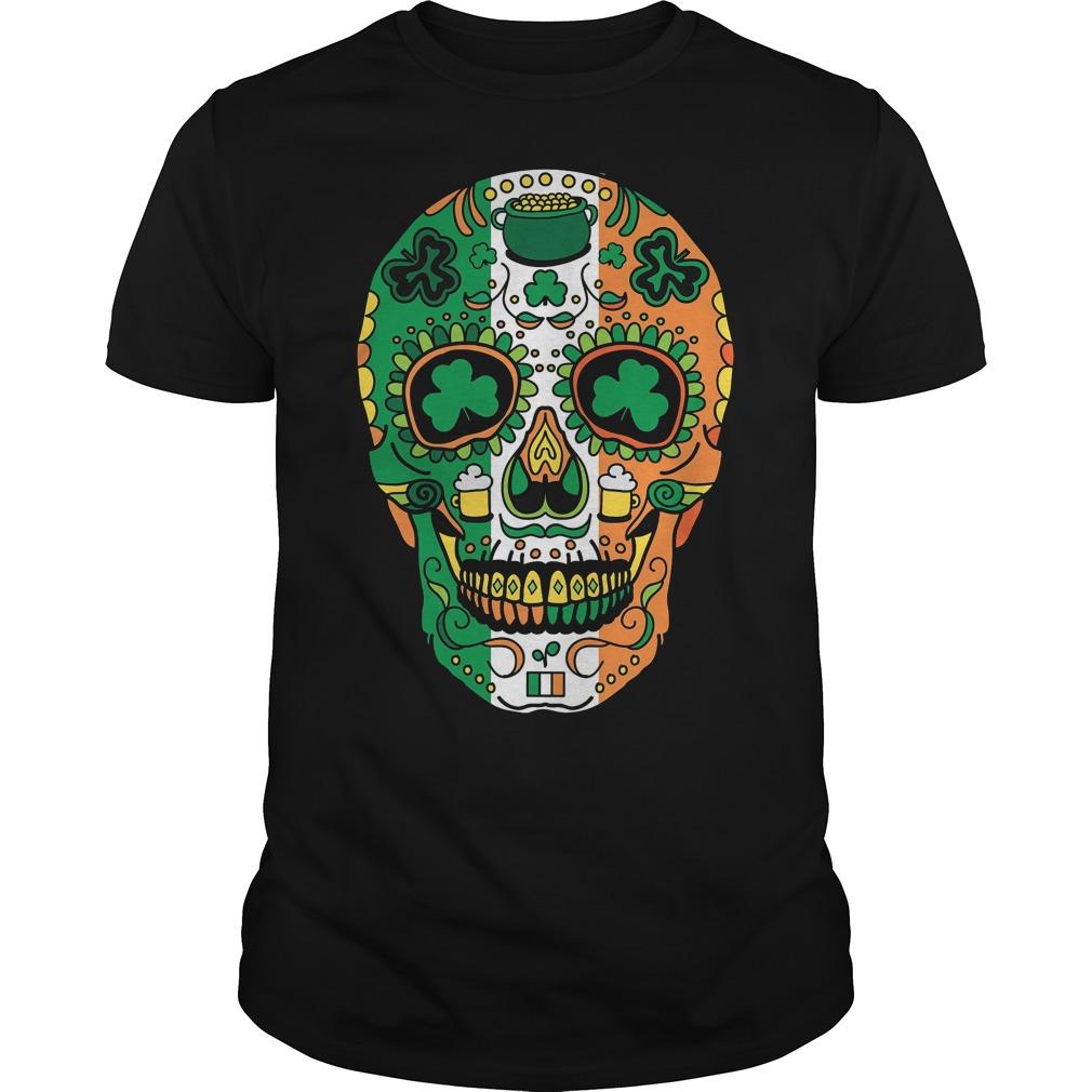 St paddys day irish sugar skull shirt hoodie sweater longsleeve st paddys day irish sugar skull shirt biocorpaavc Images