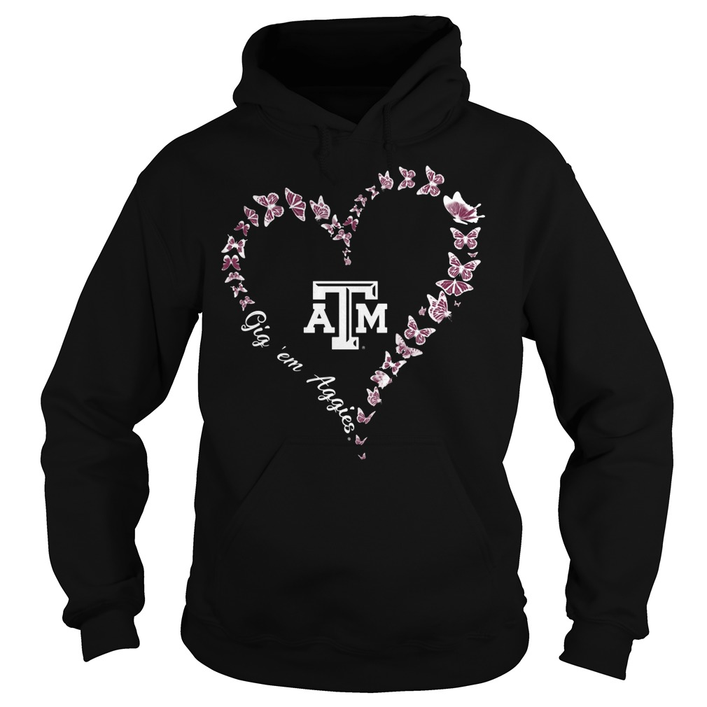 Texas Am Aggies Butterflies Heart Hoodie