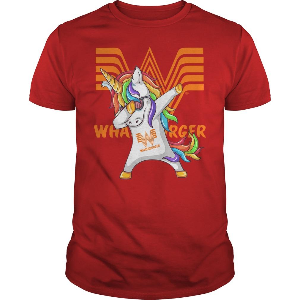 Unicorn Whataburger Dabbing Shirt