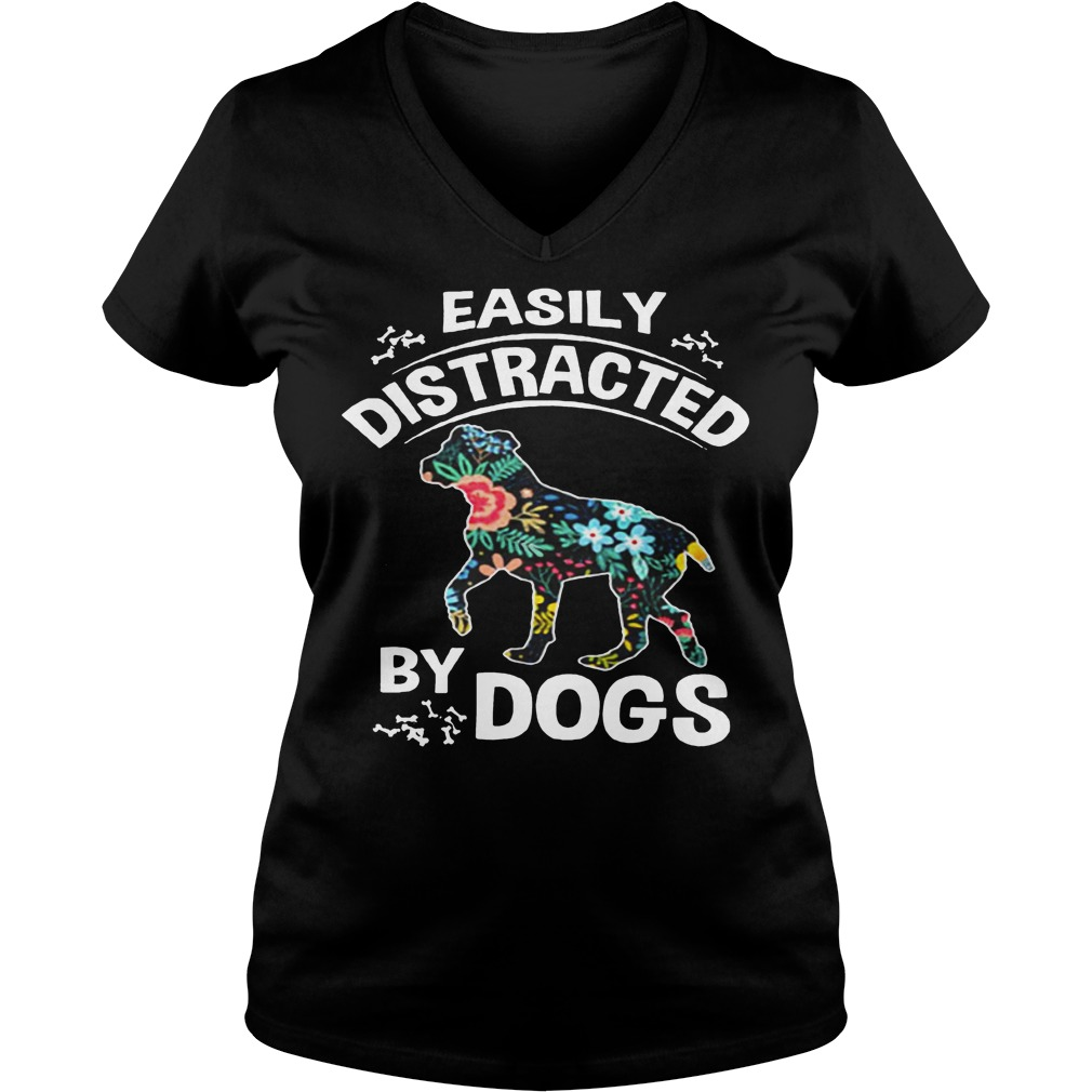 Easily Distracted By Dogs V Neck