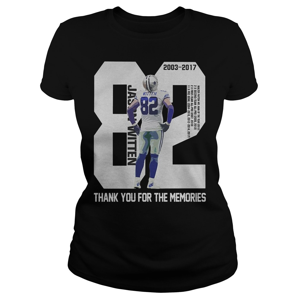 Jason Witten 82 Thank You For The Memories Ladies