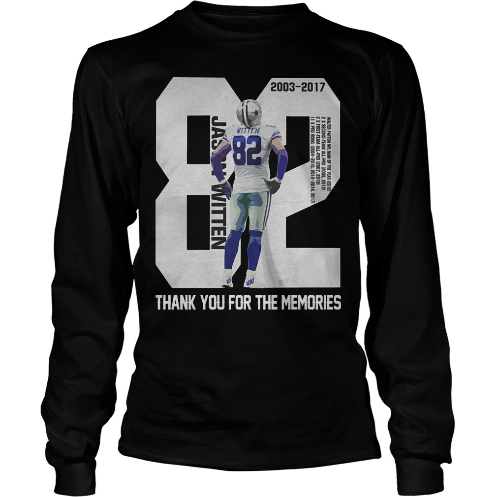 Jason Witten 82 Thank You For The Memories Longsleeve