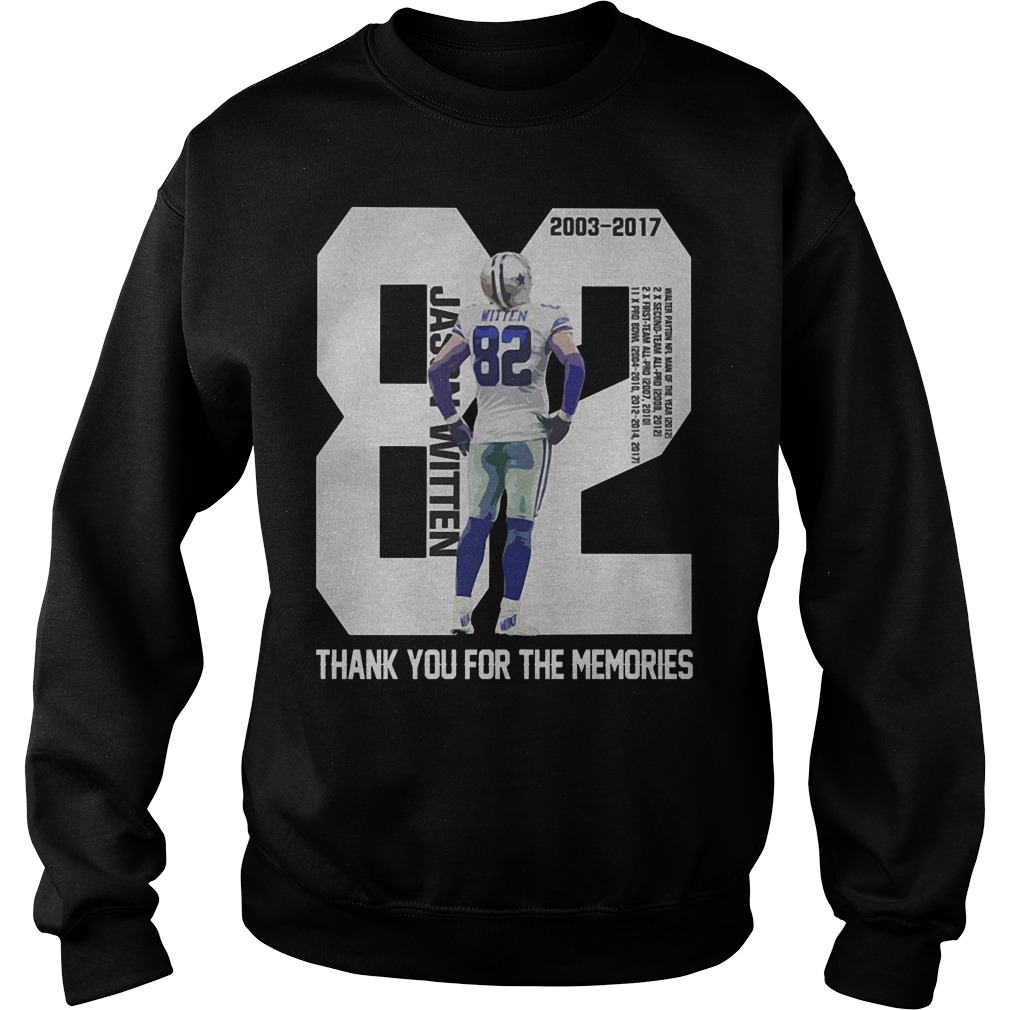 Jason Witten 82 Thank You For The Memories Sweater