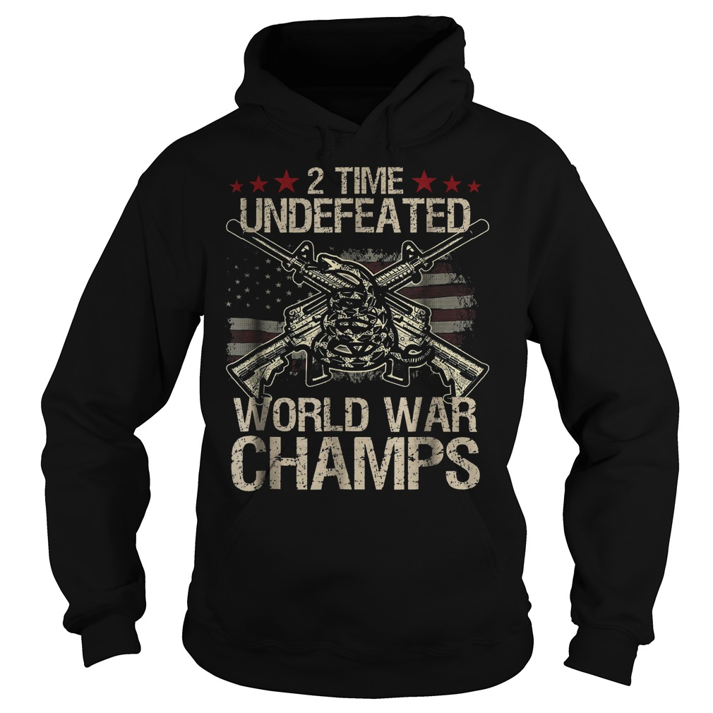 2 Time World War Champs Hoodie