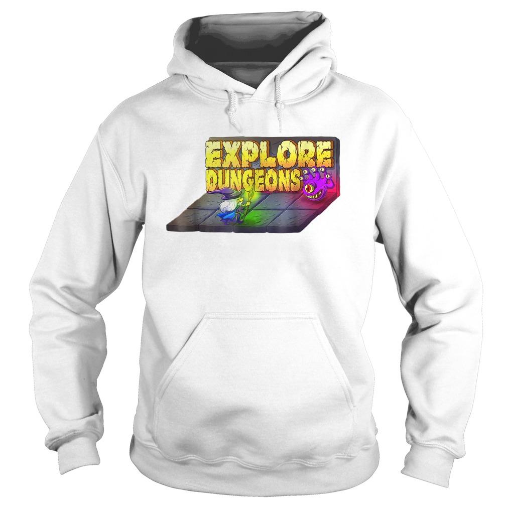 Explore Dungeons Logo Tee Hoodie