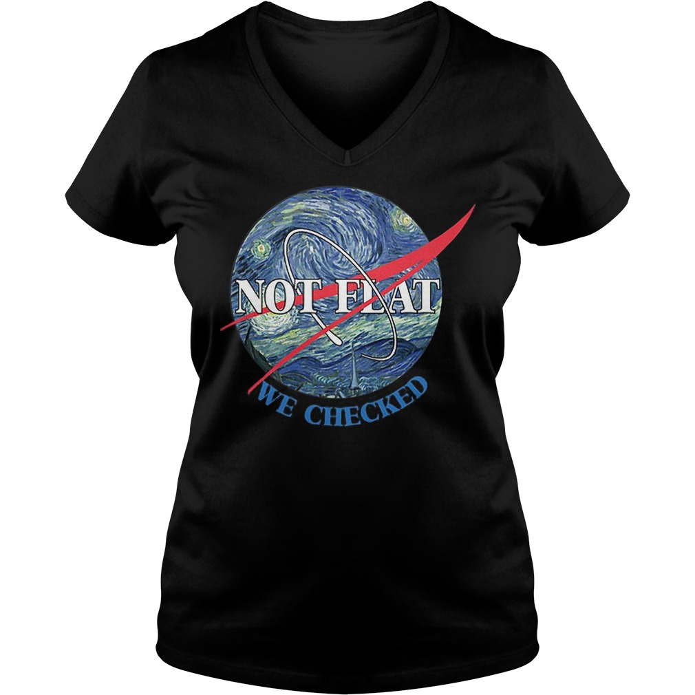 Science Not Flat We Checked V Neck