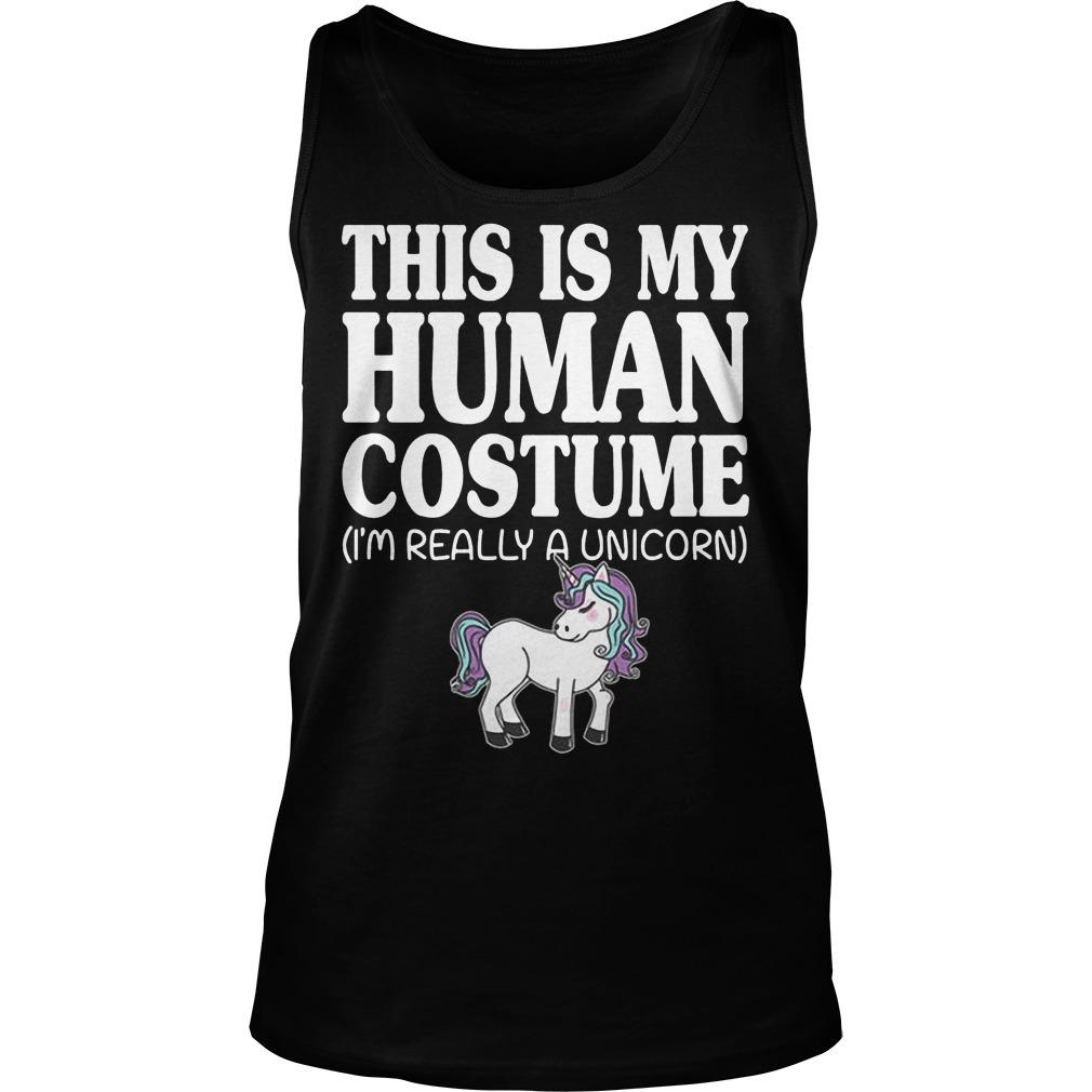 This Is My Human Costume Unicorn Tanktop