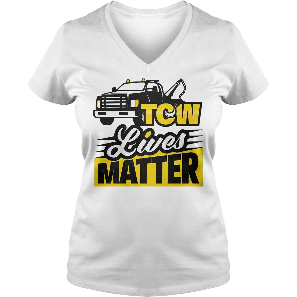 Tow Lives Matter V Neck