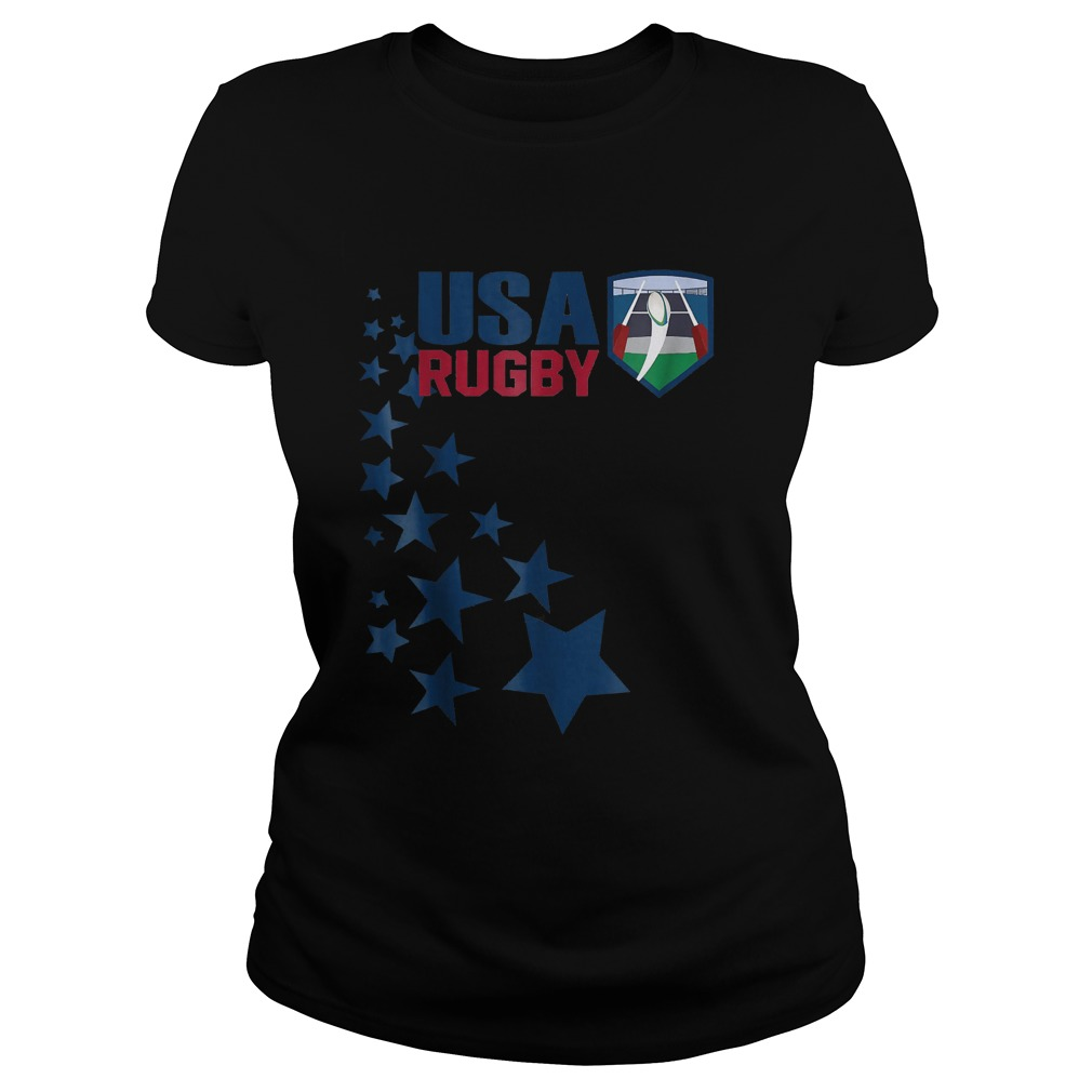 American Rugby With Stars T-Shirt Classic Ladies Tee