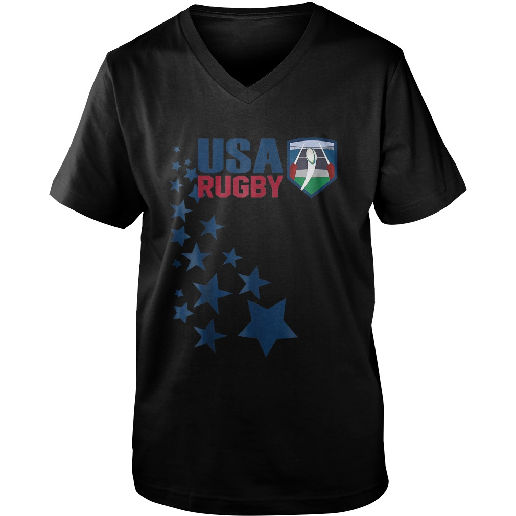 American Rugby With Stars T-Shirt Guys V-Neck