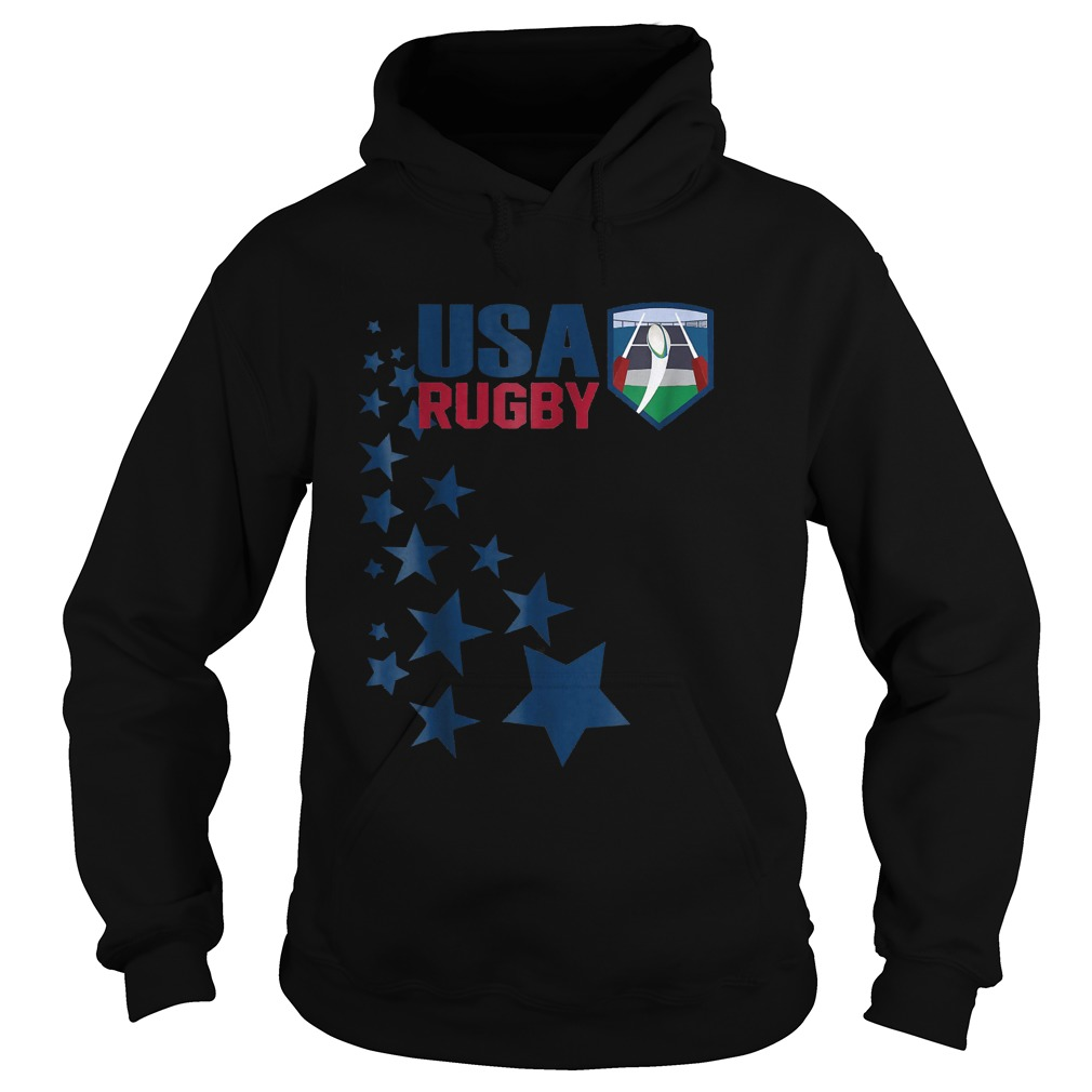American Rugby With Stars T-Shirt Hoodie