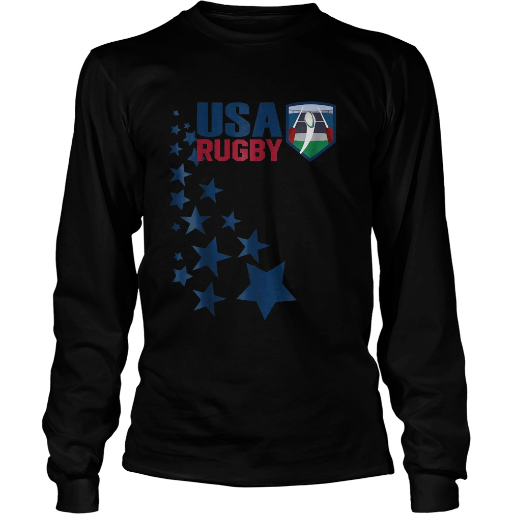 American Rugby With Stars T-Shirt Longsleeve Tee Unisex
