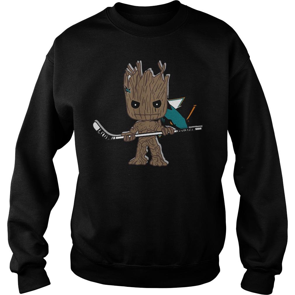 Baby Groot I Am Ice Hockey Player Team San Jose Sharks T-Shirt Sweat Shirt
