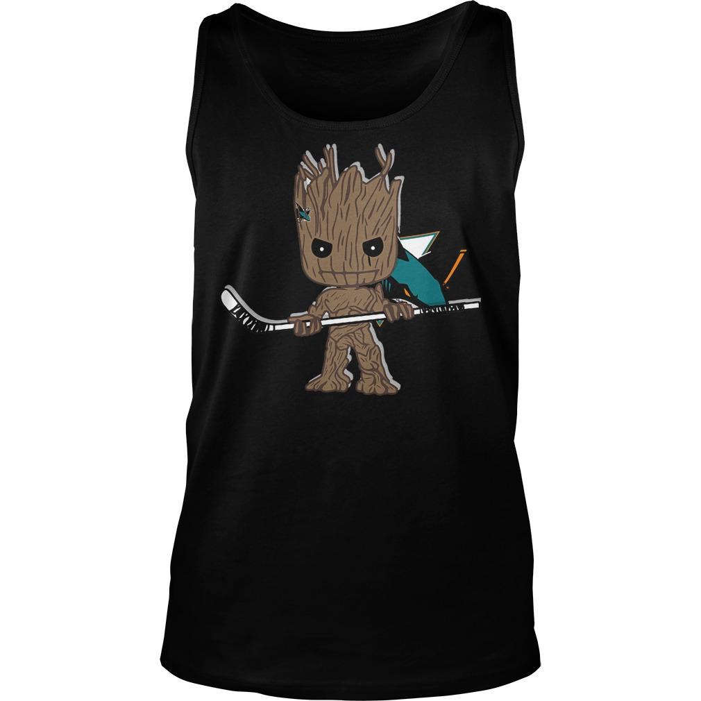 Baby Groot I Am Ice Hockey Player Team San Jose Sharks T-Shirt Unisex Tank Top