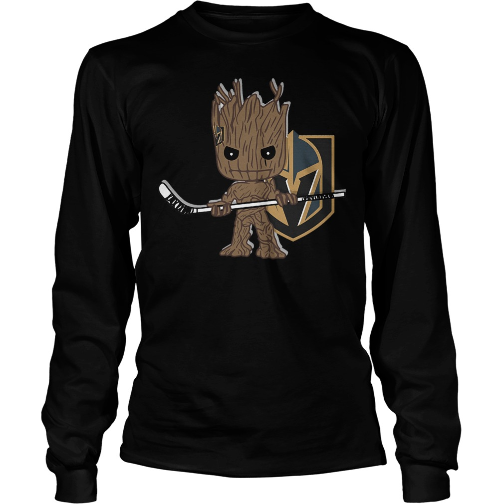 Baby Groot I Am Ice Hockey Player Team Vegas Golden