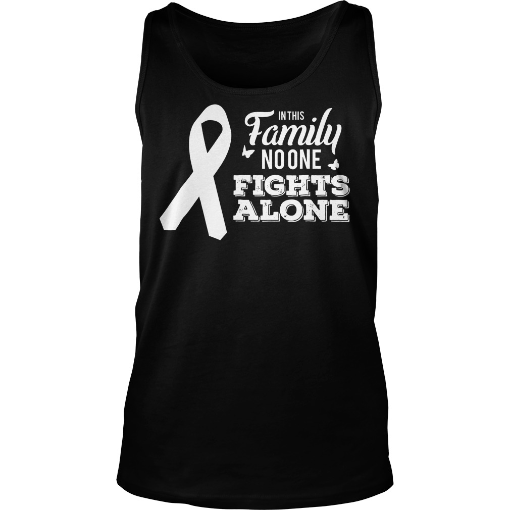 Lung Cancer In This Family No One Fights Alone T-Shirt Unisex Tank Top