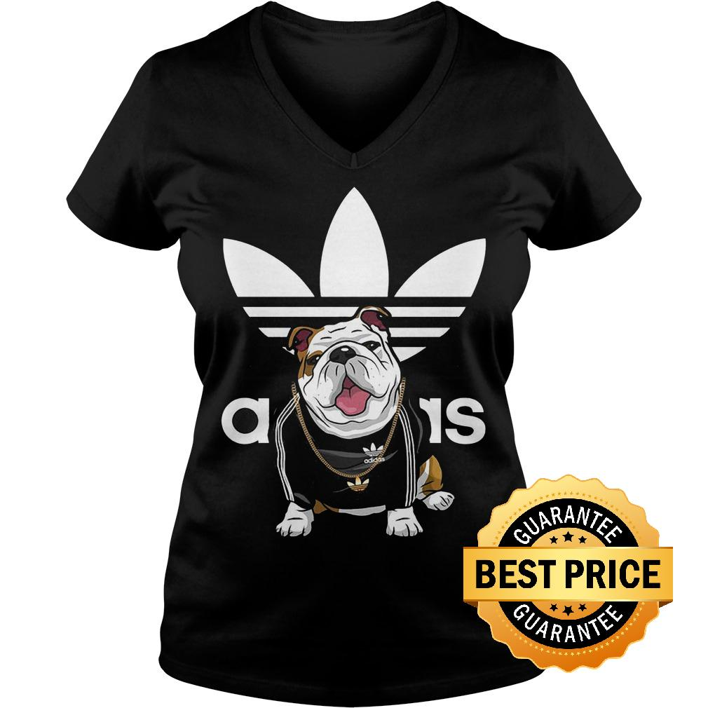 Best Price Adidas Bulldog shirt Ladies V-Neck