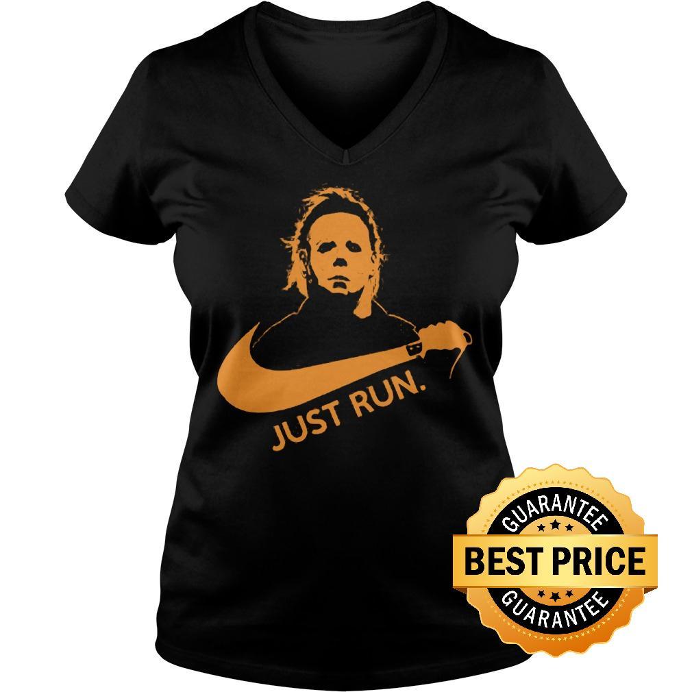 Best Price Nike Michael Myer Just run shirt Ladies V-Neck