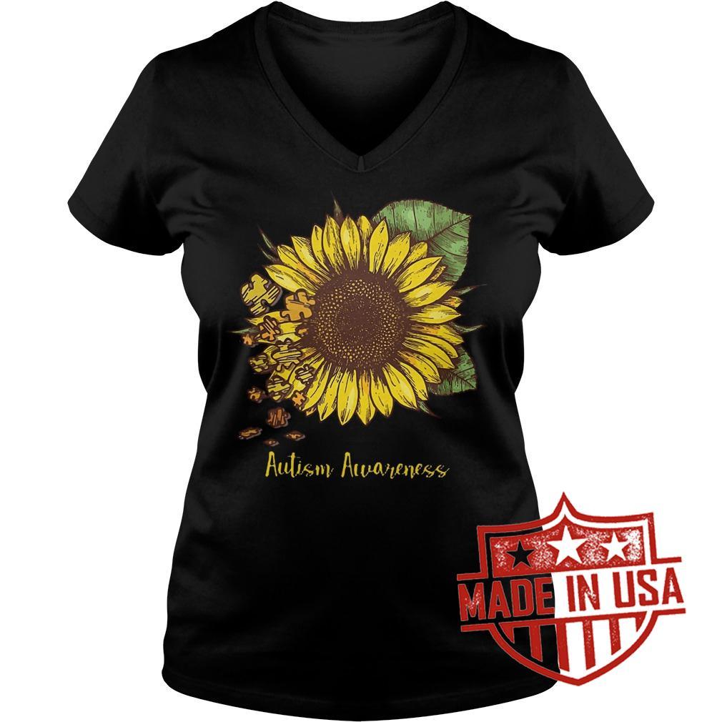 Best Price Sunflower Autism Awareness shirt Ladies V-Neck