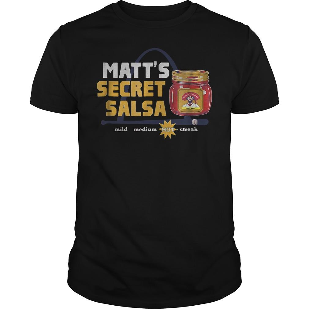 Official Baseball Carpenter Matts Secret Salsa shirt