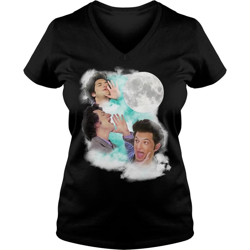 Original Jean Ralphio The Wooorst Three Jean Moon Shirt Ladies V-Neck