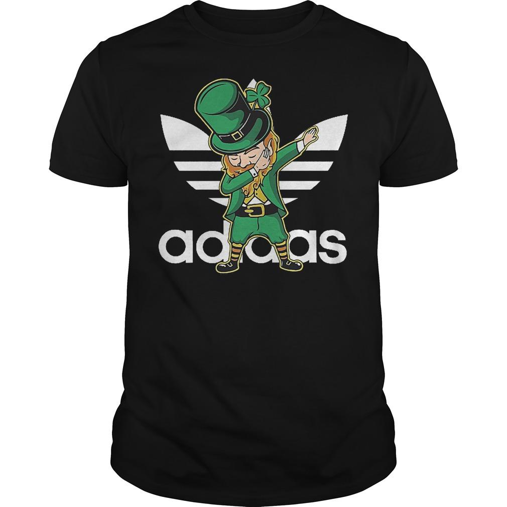 Adidas Leprechaun dabbing St Patrick's day Irish shirt
