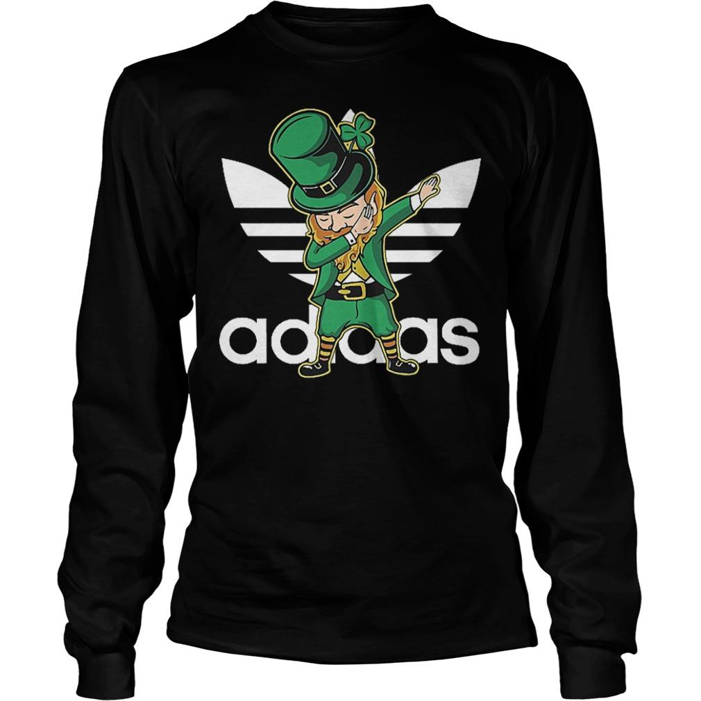 Adidas Leprechaun dabbing St Patrick's day Irish shirt Longsleeve Tee Unisex