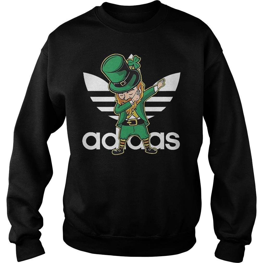 Adidas Leprechaun dabbing St Patrick's day Irish shirt Sweatshirt Unisex