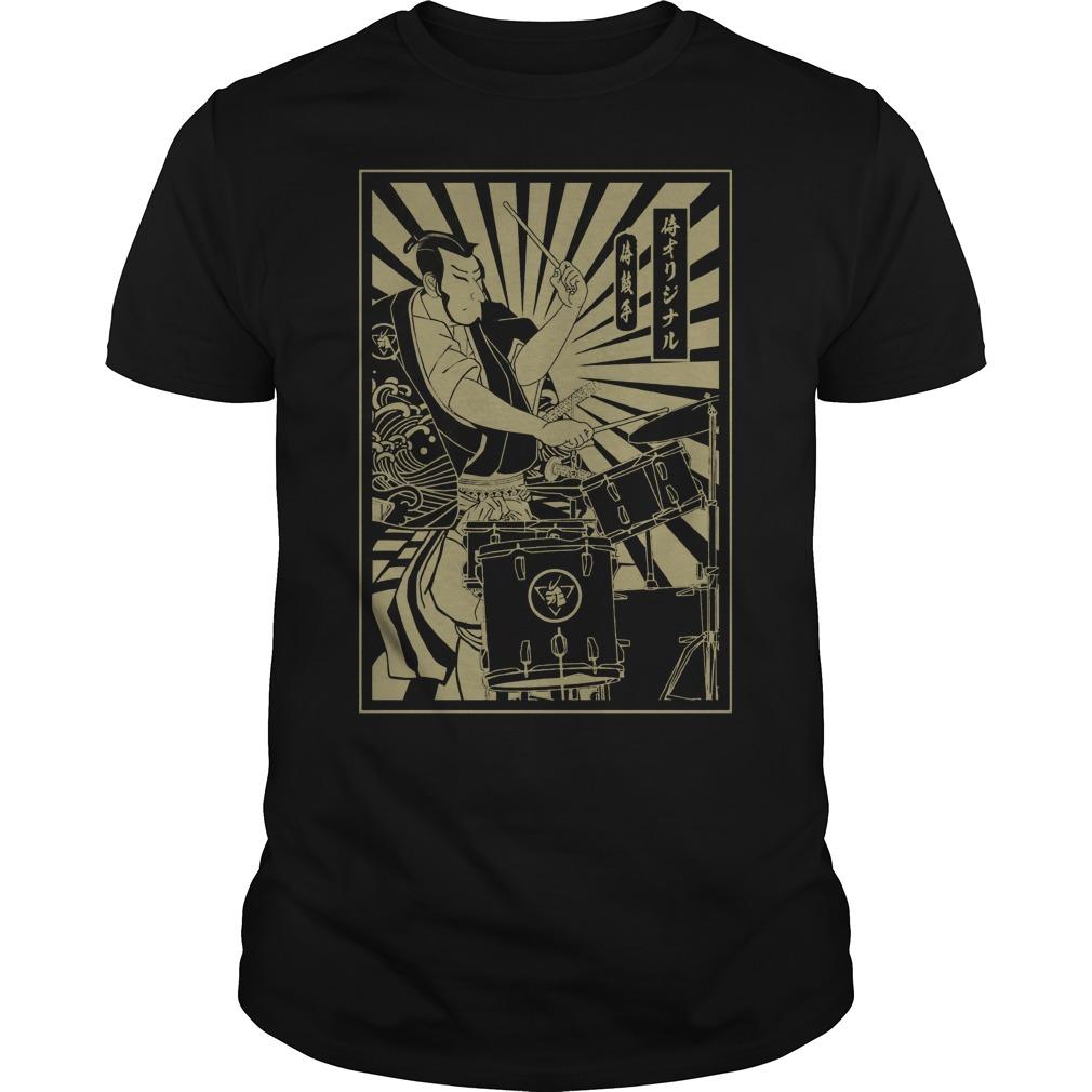 Drummer samurai shirt