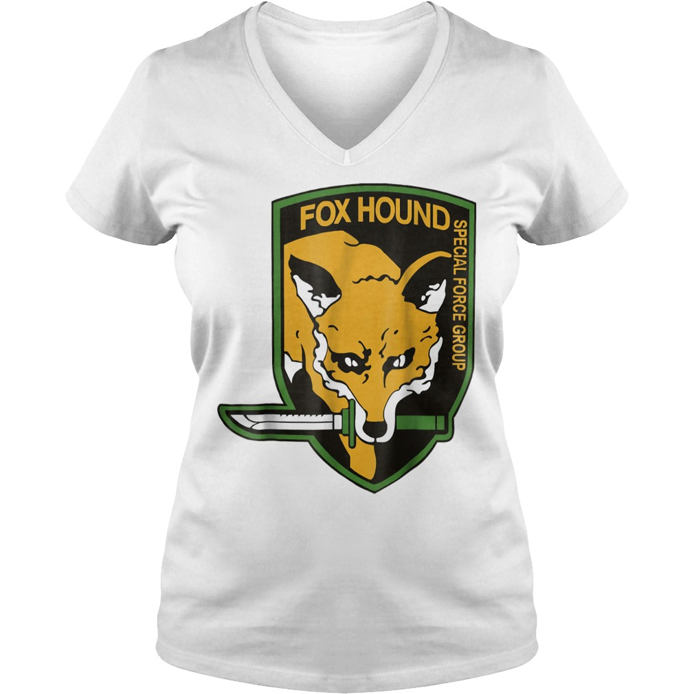 Metal Gear Fox Hound special force group shirt Ladies V-Neck