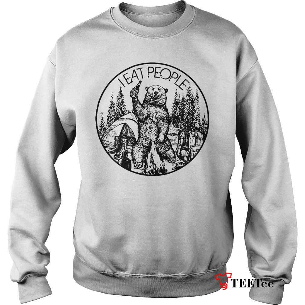 Nice Shirt Camfire camping bear i hate people i eat people shirt Sweatshirt Unisex