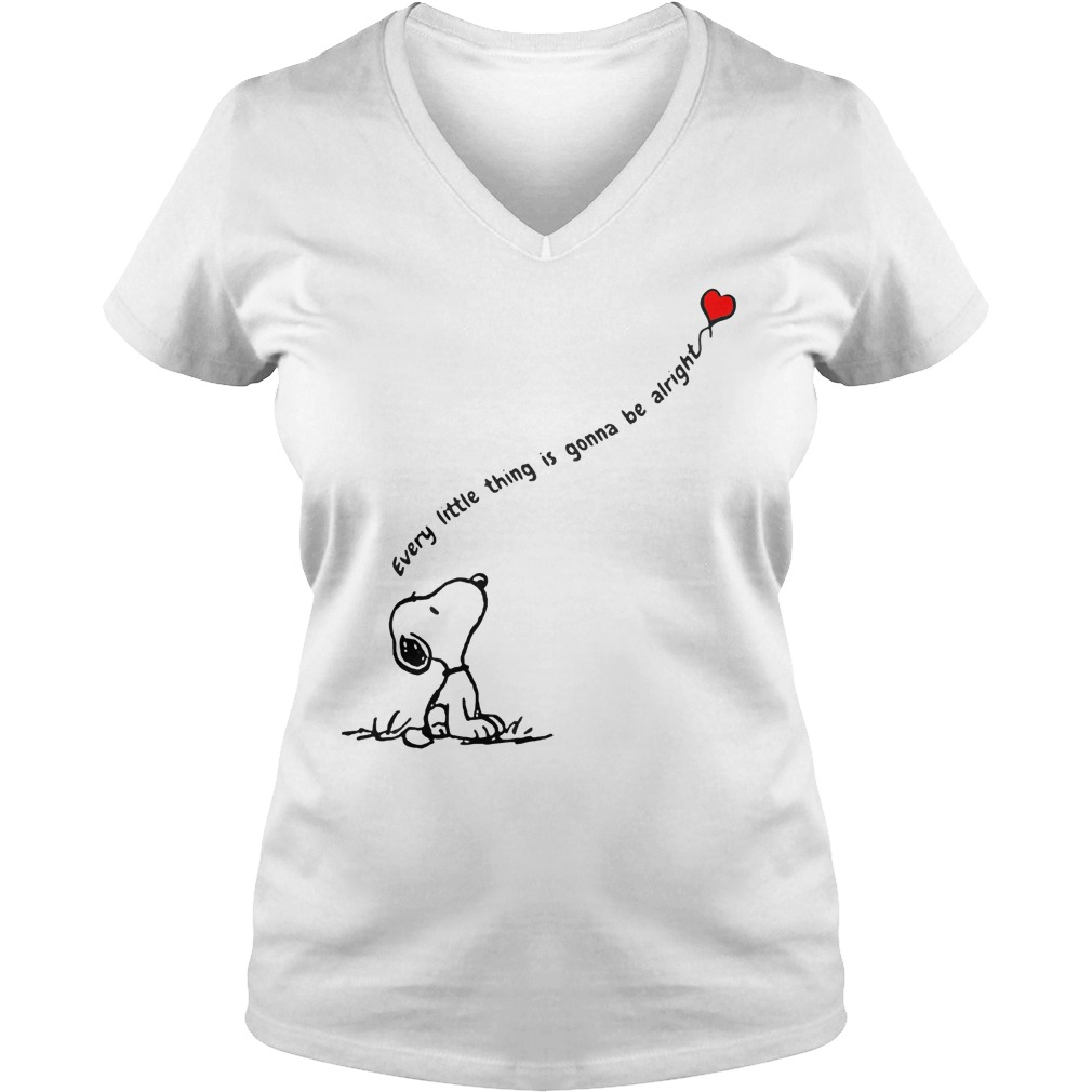 Snoopy every little thing is gonna be alright shirt shirt Ladies V-Neck