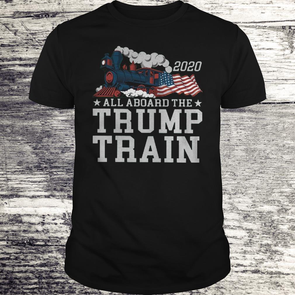 All Aboard The Trump Train 2020 Shirt Classic Guys Unisex Tee.jpg