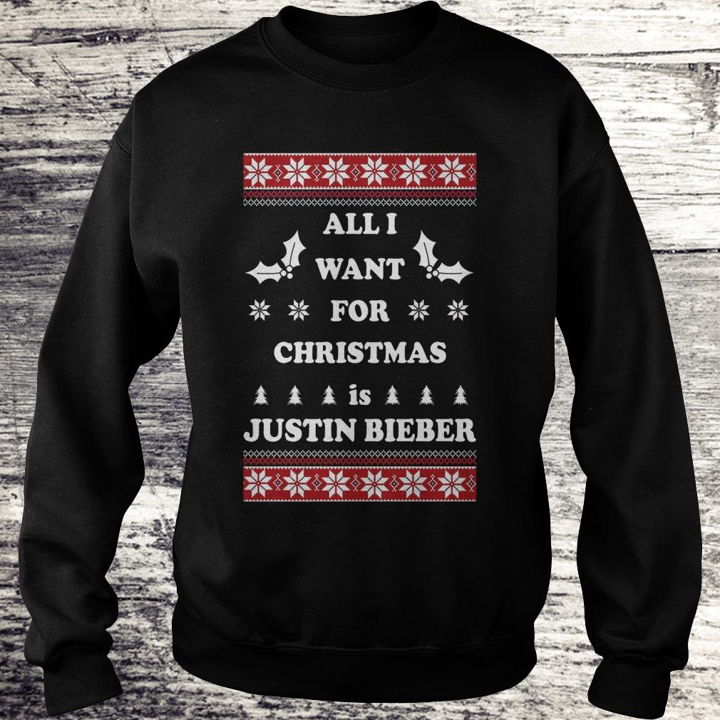 All I want for Christmas is Justin Bieber Shirt - Premium Tee Shirt