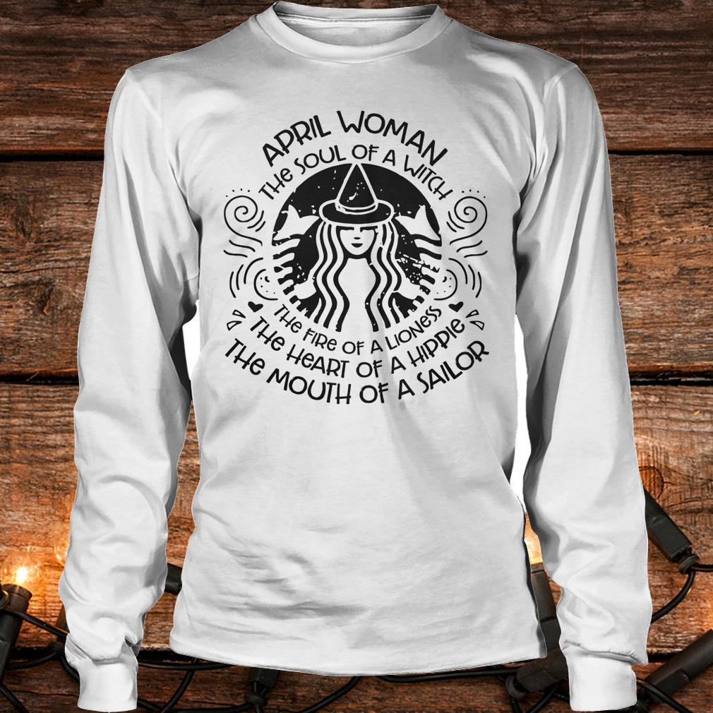 April Woman The soul of a Witch Shirt Longsleeve Tee Unisex