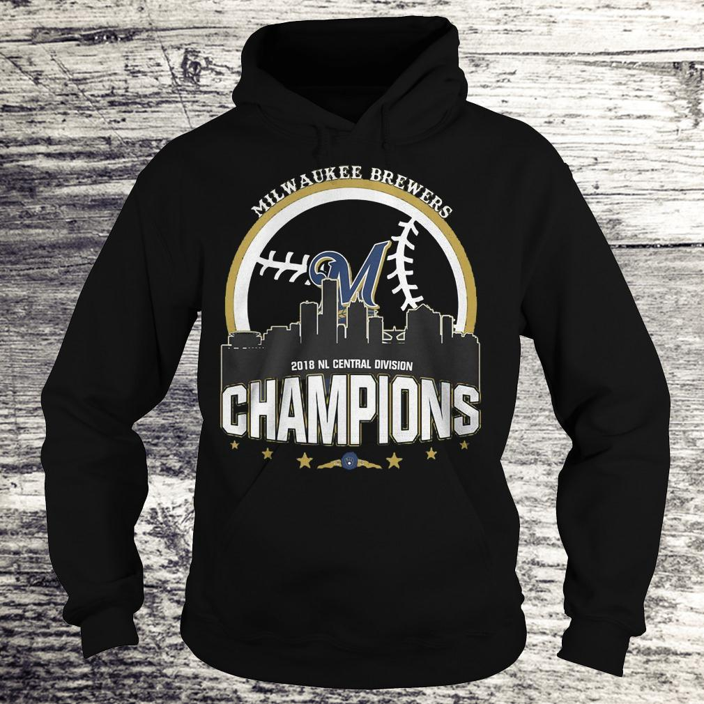 Best Price Milwaukee Brewers 2018 NL central division champions Shirt Hoodie