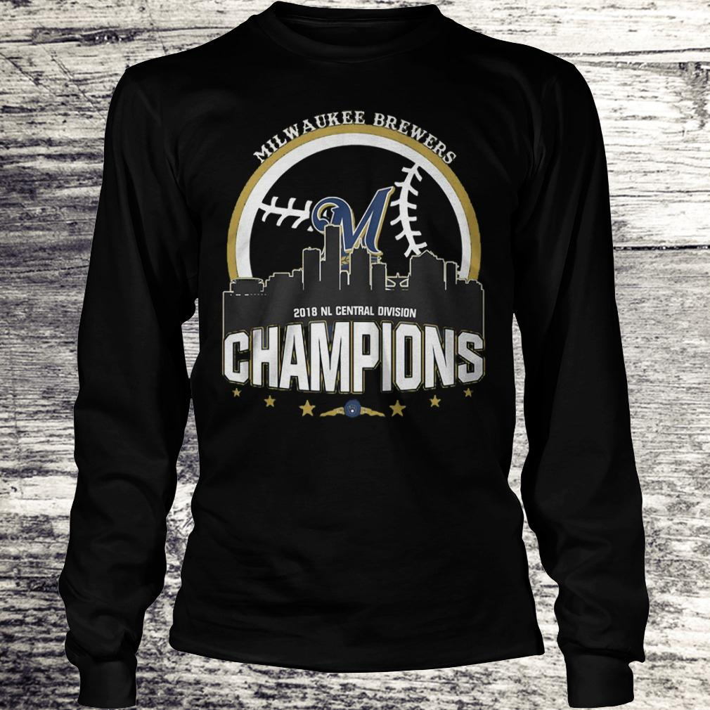 Best Price Milwaukee Brewers 2018 NL central division champions Shirt Longsleeve Tee Unisex