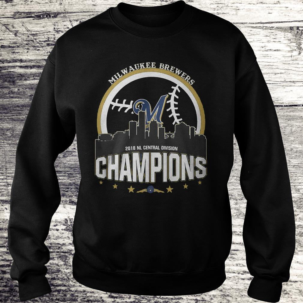 Best Price Milwaukee Brewers 2018 NL central division champions Shirt Sweatshirt Unisex