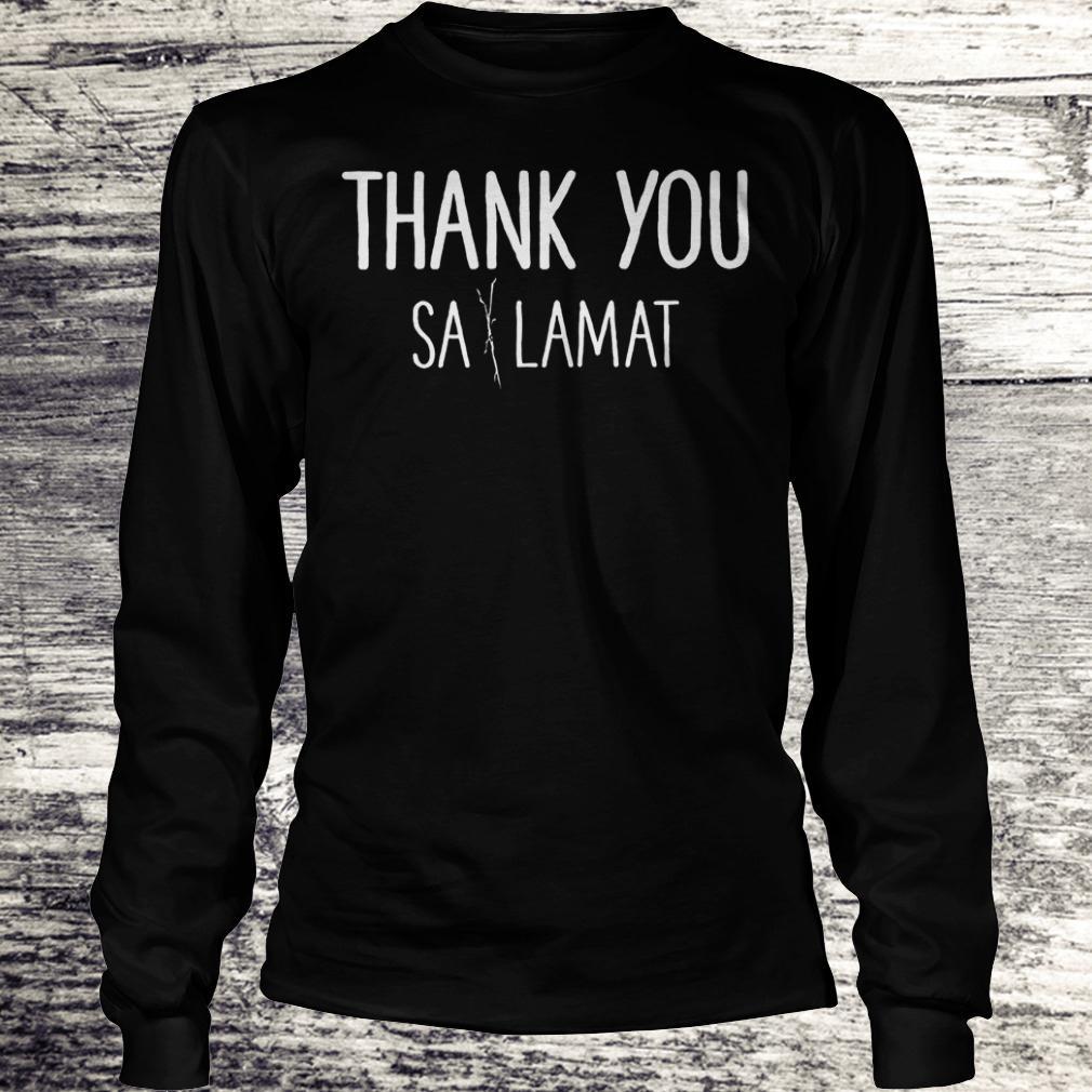 Best Price Thank you Sa Lamat Shirt Longsleeve Tee Unisex